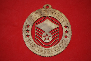 Air Force  Enlisted Rank Insignia Master Sergeant  Class  wooden ornament