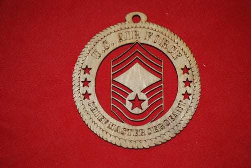 Air Force  Enlisted Rank Insignia Chief Master Sergeant E9 wooden ornament