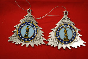 Army National Guard Plastic Tree or Wreath  Shaped Ornament