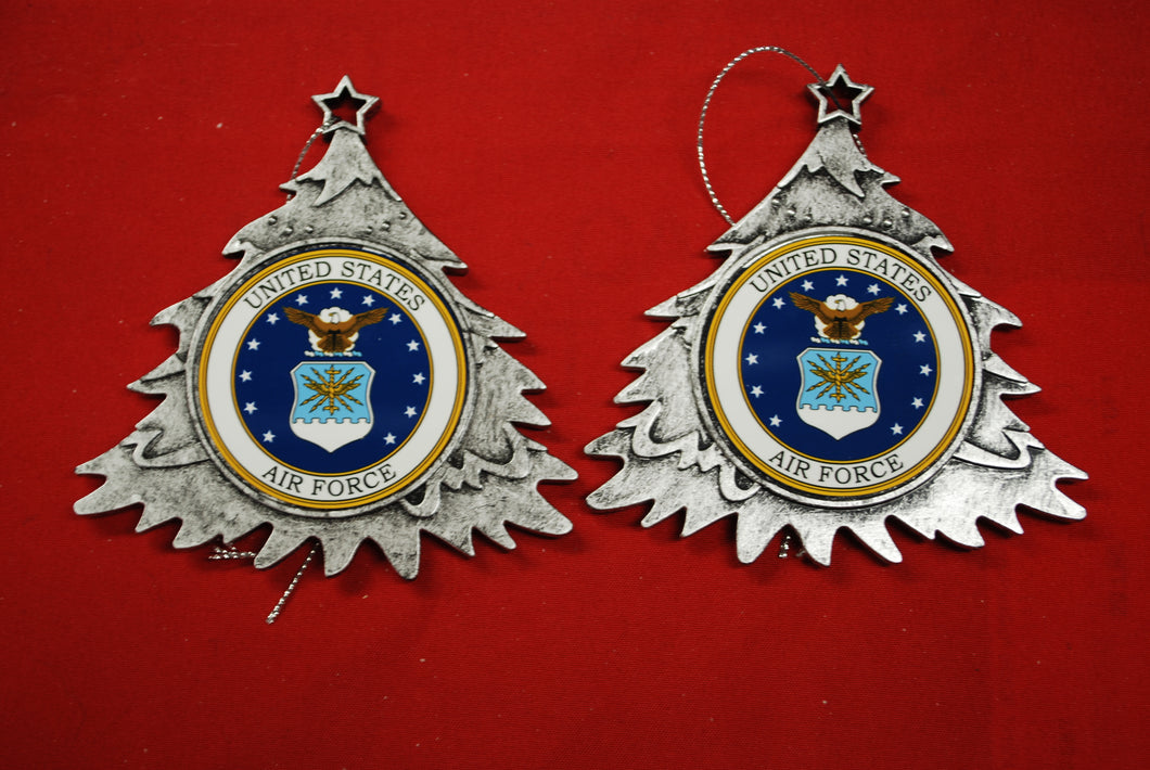 Air Force Plastic Tree or Wreath  Shaped Ornament