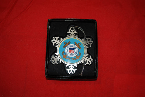 Coast Guard Pewter Snow Flake Ornament