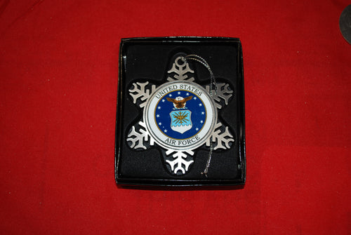 Air Force Pewter Snow Flake Ornament
