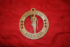 Walking Tall  Shriner Holding Child Proud to be a Shriner laser cut ornament