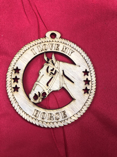 HORSE HEAD LASER ORNAMENT