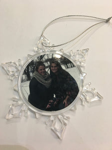 Clear Plastic Small Snowflake Shaped Ornament