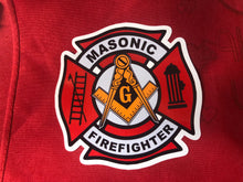 Load image into Gallery viewer, Masonic Firefighter Maltese cross sticker