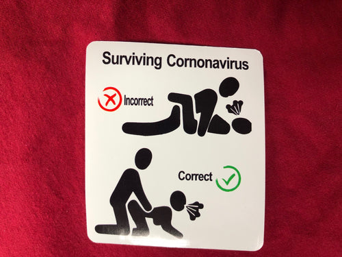 Surviving Cornonavirus sticker