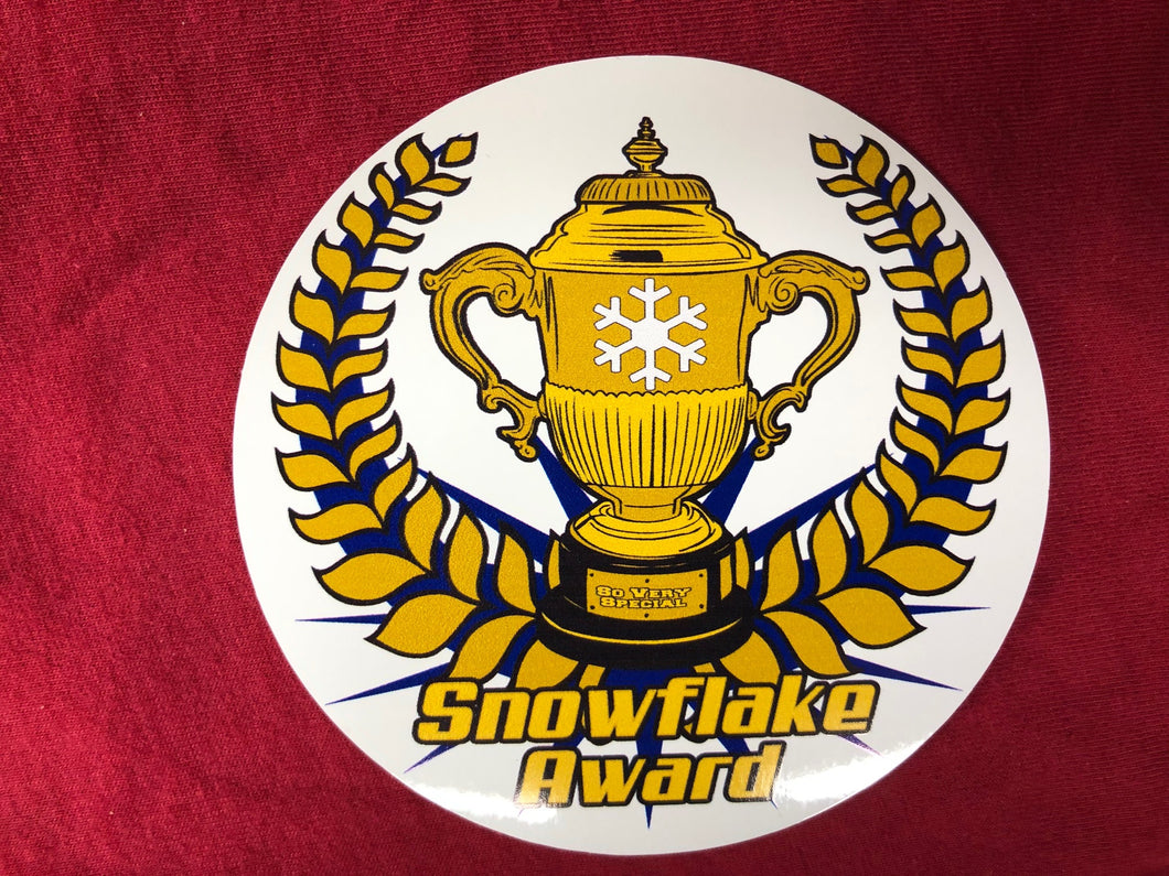 Snowflake Award Sticker