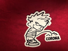 Load image into Gallery viewer, Pissing Calvin Corona Sticker