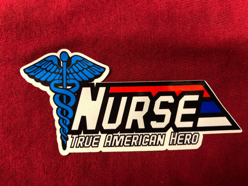 GI True American Hero  Nurse Sticker