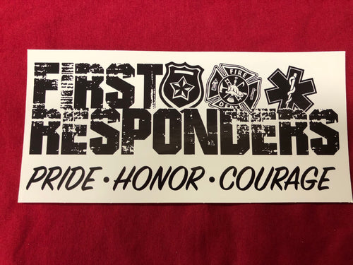 First Responders EMT, fire and police Sticker