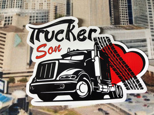trucker son  sticker