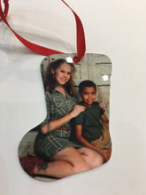 Load image into Gallery viewer, 2 sided aluminum Stocking ornament