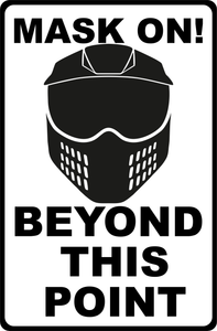 Paintball and Airsoft metal safety signs