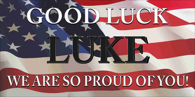 ARMY NAVY AIR FORCE MARINES BANNERS GRADUATION STICKER FLYER DECAL BANNER GOOD LUCK