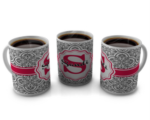 Monogram Coffee Mug Design 56