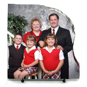 "7.8"" x 7.8"" x 3/8 right contour photo slate"