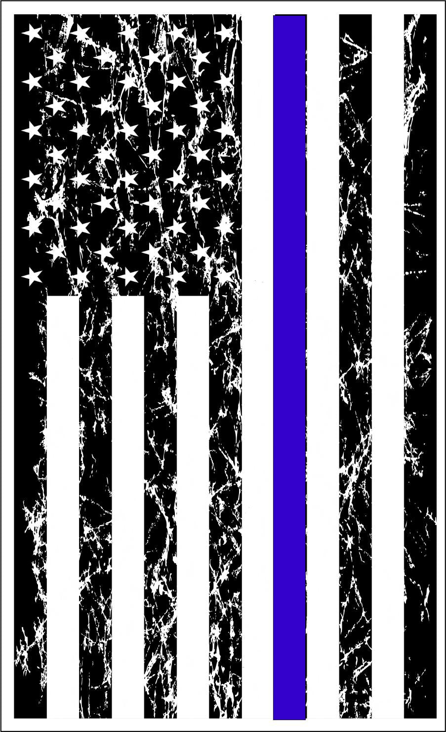 Thin Blue Line light distress sticker