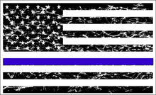 Load image into Gallery viewer, Thin Blue Line light distress sticker