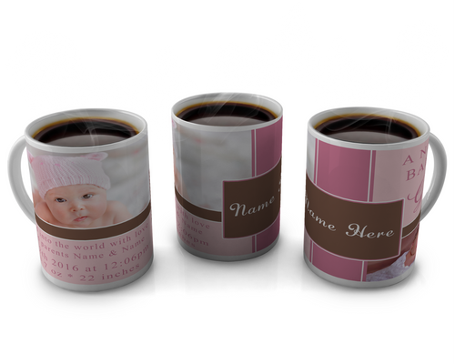 Birth Announcement Coffee mug Design 21