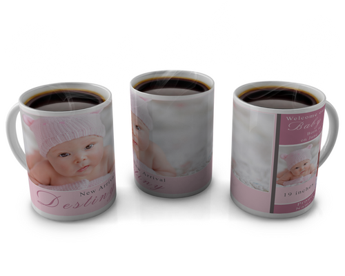 Birth Announcement Coffee mug Design 19
