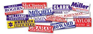 "Custom Made 3""x10""  and 4""x4"" Bumper Stickers"