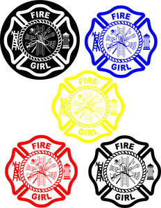 FIRE GIRL Cut vinyl decal