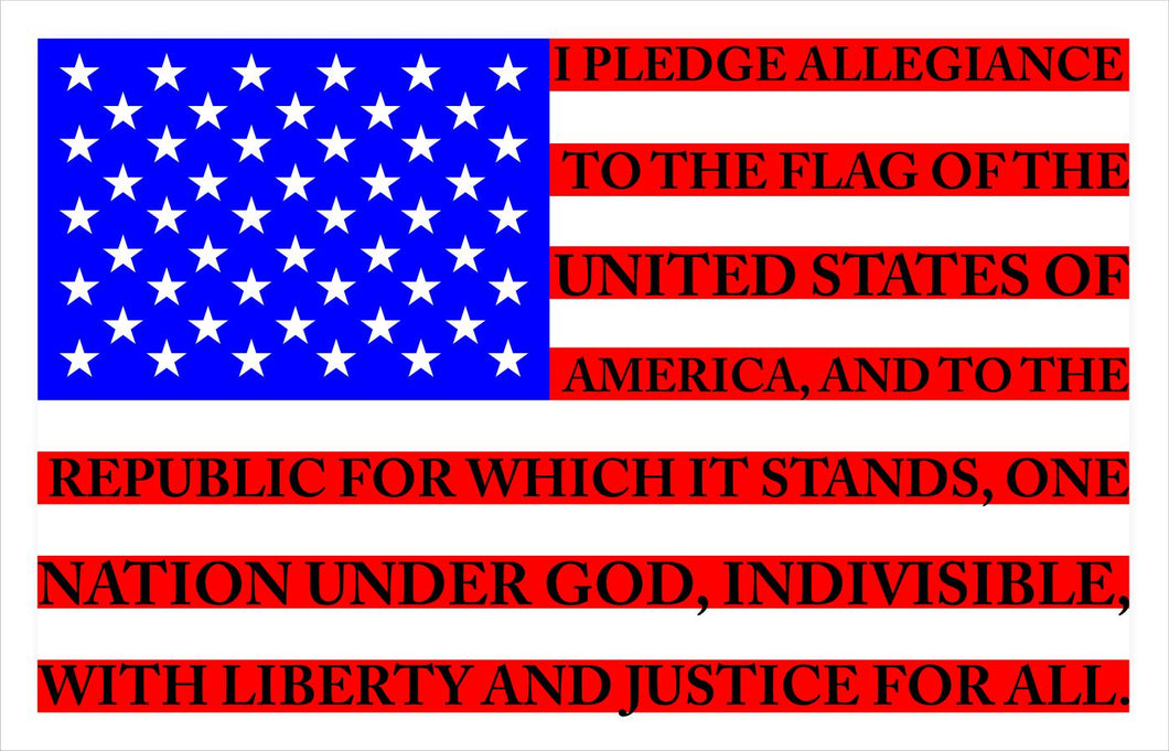 pledge of allegiance american flag sticker