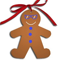 2 sided aluminum Gingerbread Girl Or Boy ornament Premade