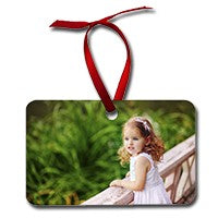 Load image into Gallery viewer, 2 sided aluminum Horizontal rectangle ornament