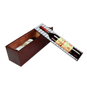 Wood Wine Bottle Gift Box