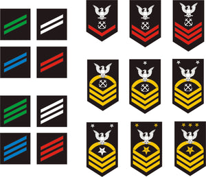 Navy Enlisted Rank Insignia stickers