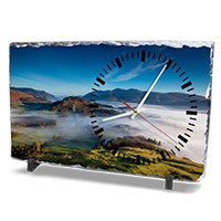 Rectangle photo slate with Clock