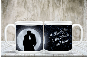 I Love You To The Moon A Back Coffee Mug
