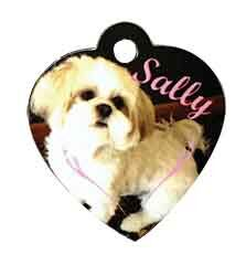 Pet ID tag Heart Shaped
