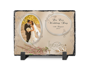 Wedding photo slate rectangle Design 3