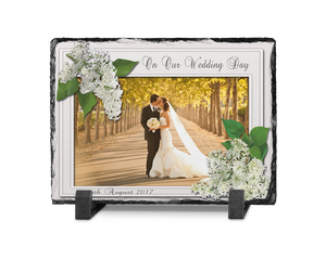 Wedding Photo Slate Rectangle Design 5