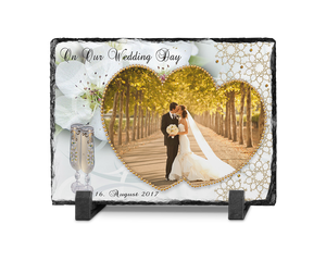 Wedding Photo Slate Rectangle Design 6