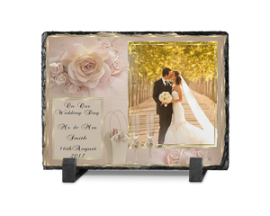 Wedding Photo Slate Rectangle Design 2