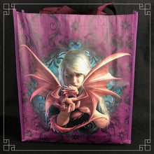 Load image into Gallery viewer, Väska - shoppingbag - Dragon Kin - Anne Stokes