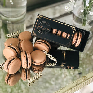Trio Box chocolate macarons