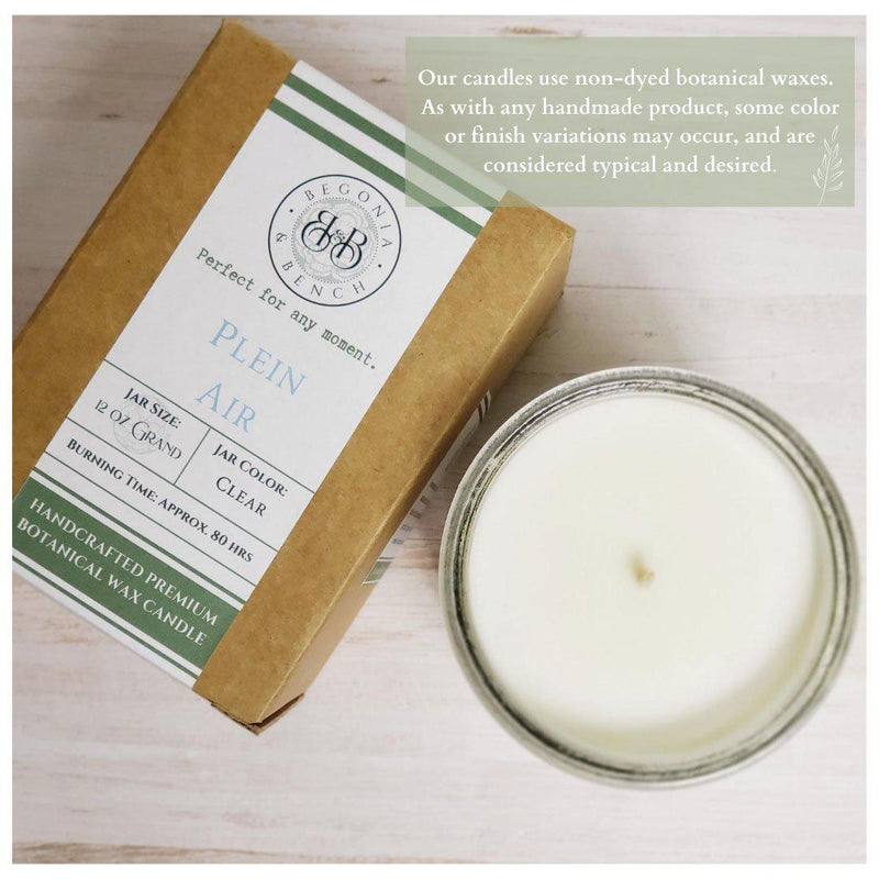 P.N.W. - Artisan Candle-Candles-Begonia & Bench