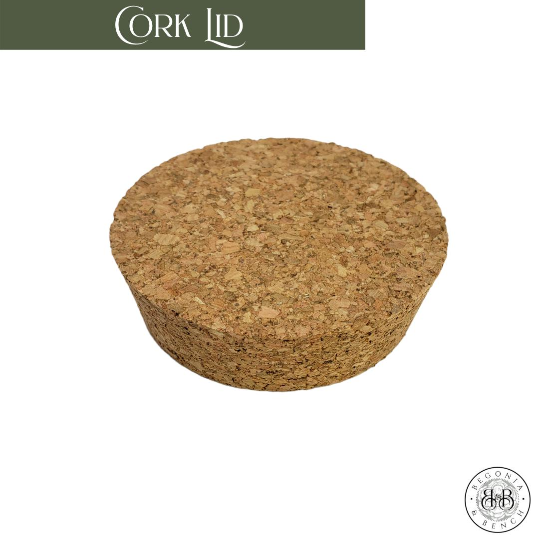 Cork Top that fits for the top of a Begonia & Bench 12oz Signature  Premium Botanical Wax Candle.