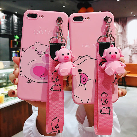 2019 New Fashion Doll with lanyard matte airbag bracket iPhone case