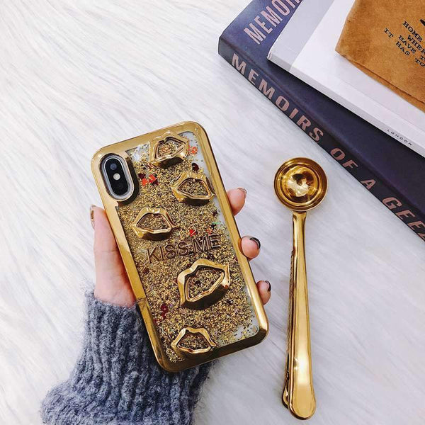 Lips sanding personality creative phone case
