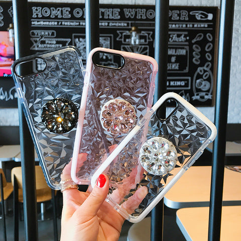 2019 New Fashion Diamond pattern flash airbag bracket phone case