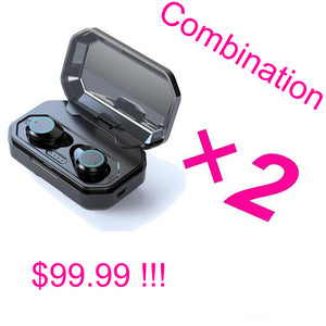 b30bab2db4d Touch Control TWS True 5.0 Bluetooth Earphone Earbuds Earpiece Mini Twins  Stereo Microphone Wireless Earbuds for