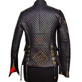 Chiara D. quilted leather jacket