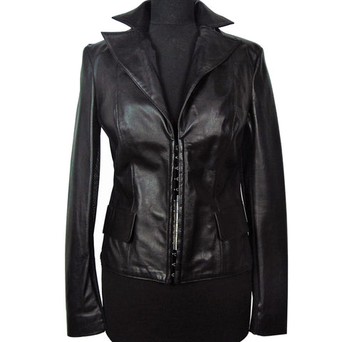 ChiaraD unlined leather jacket