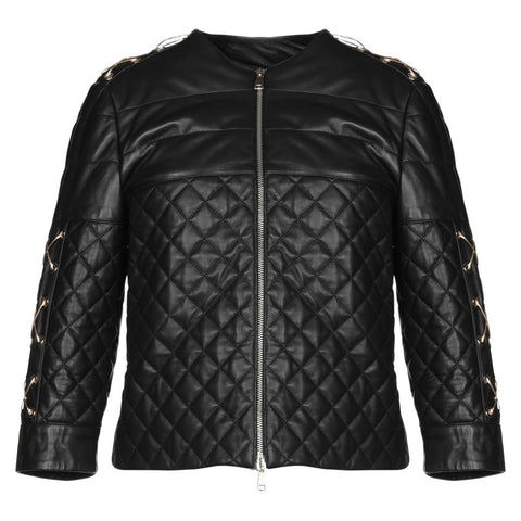 ChiaraD quilted leather jacket.